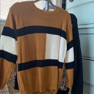 Block style sweater